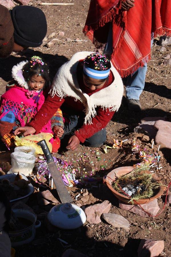 ceremonii pachamama zdjęcia stock