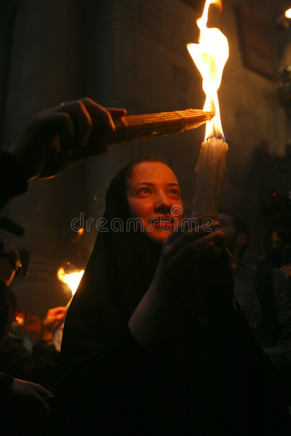 Download Ceremony Of Holy Fire Miracle Editorial Photography - Image: 9109727