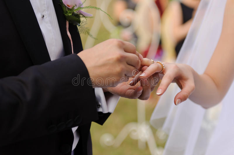 Ceremony in Park royalty free stock photography