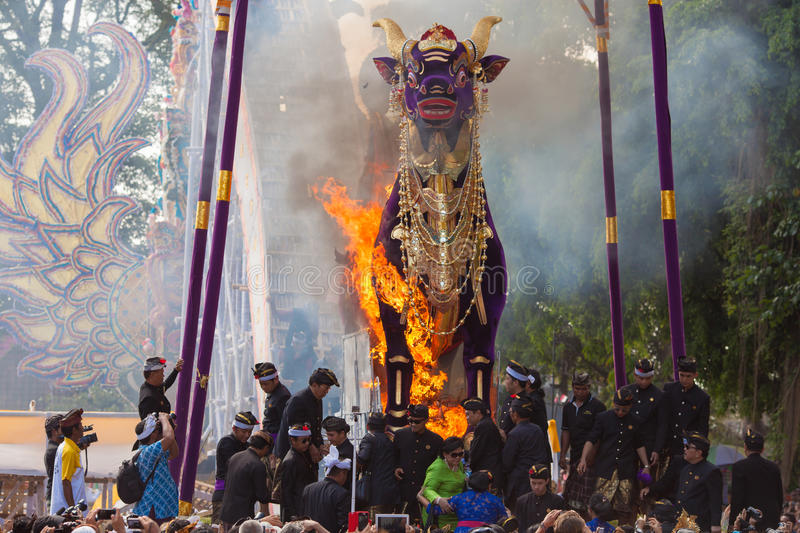 Ceremony of royal cremation stock images