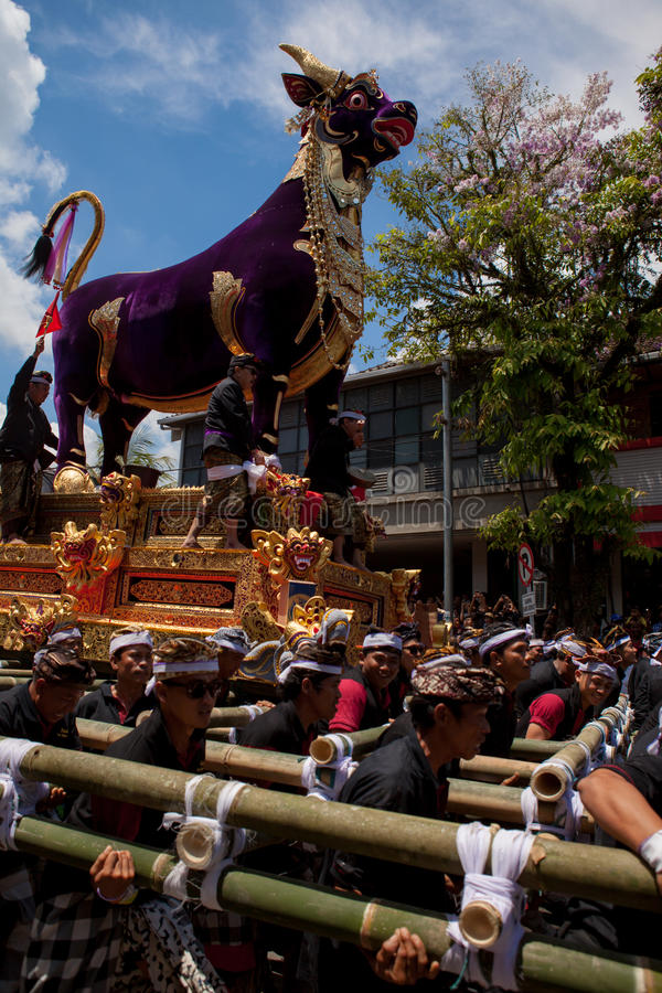 Ceremony of royal cremation stock image