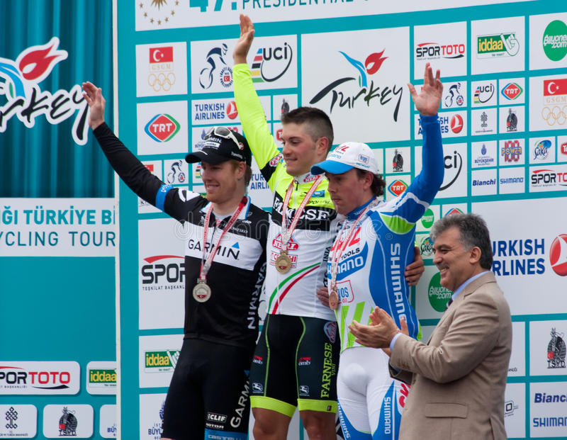 Ceremony of Tukish Cycling Tour stock photo