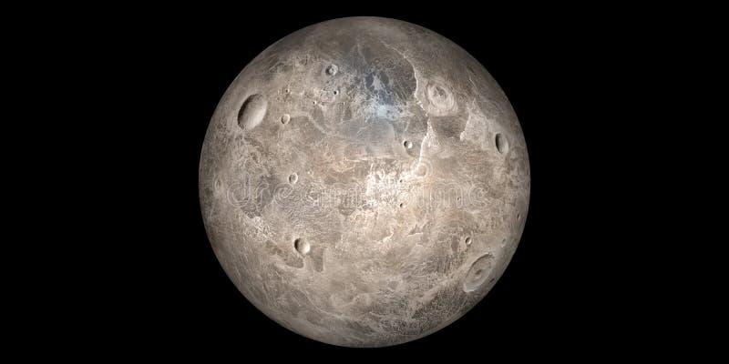 Ceres предпосылка черноты солнечной системы планеты карлика иллюстрация вектора