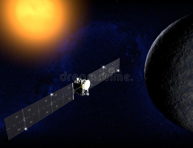 Ceres, планета карлика, зонд рассвета иллюстрация штока