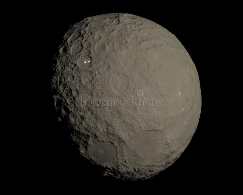 Ceres dwergplaneet in 3d hoge resolutie royalty-vrije illustratie