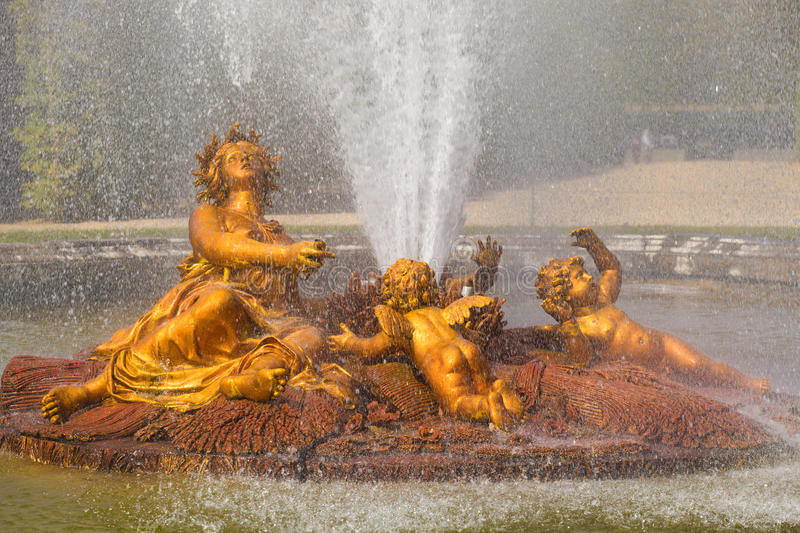 Download Ceres Fountain Spraying Water In Versailles Stock Image - Image: 13939155