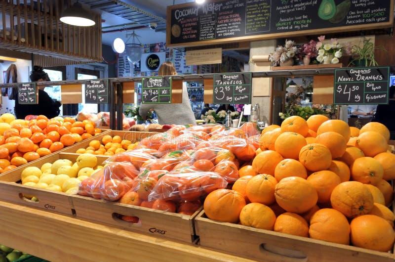Ceres le marché de produits frais Ponsonby Auckland Nouvelle-Zélande images stock