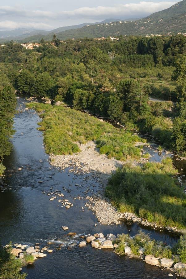 Ceret (比利牛斯,法国) :河 库存图片