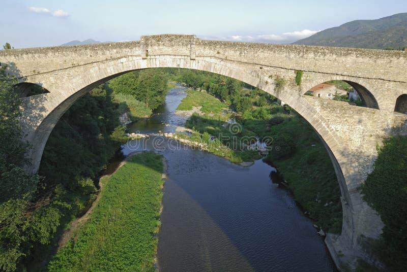 Ceret (法国),老桥梁 图库摄影