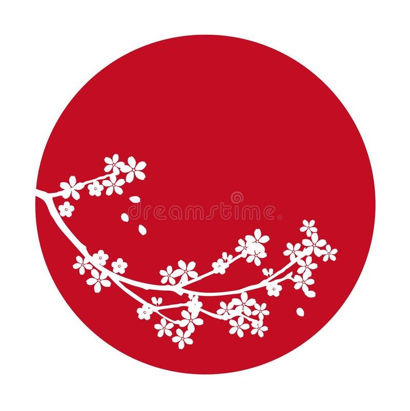 Cereza de Japón Sakura del vector stock de ilustración