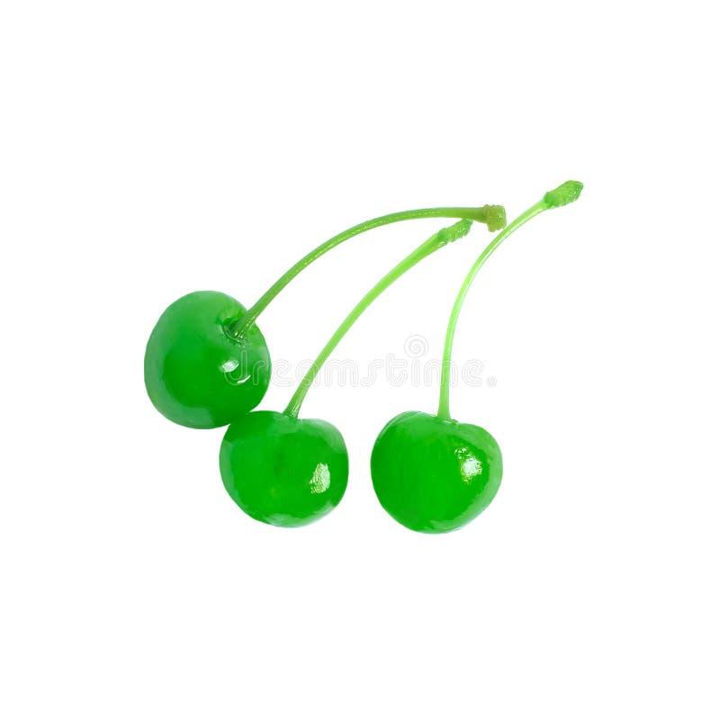 cereza de marrasquino verde fotos de archivo
