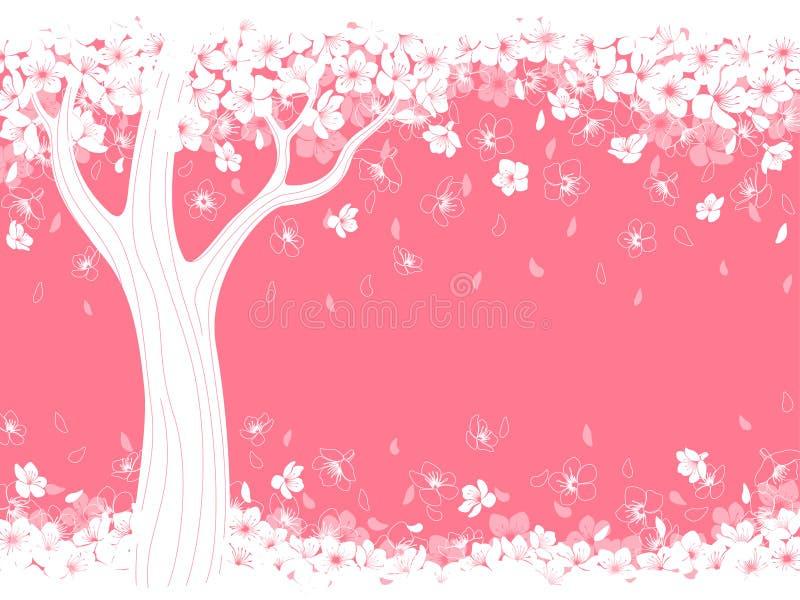 Cereza del flor stock de ilustración