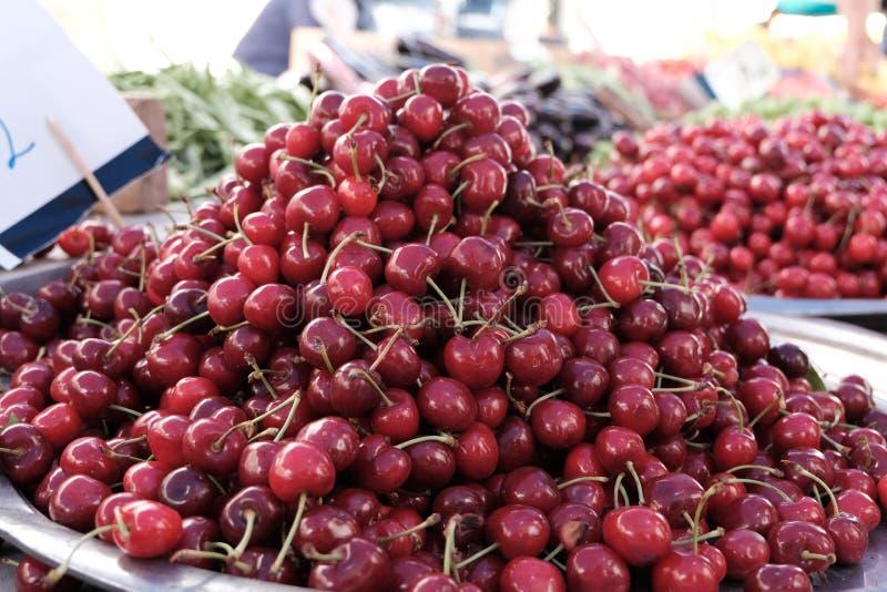 Cereza dulce fresca Fondo del alimento foto de archivo