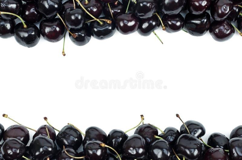 Cerezas dulces aisladas en un fondo blanco imagen de archivo libre de regalías