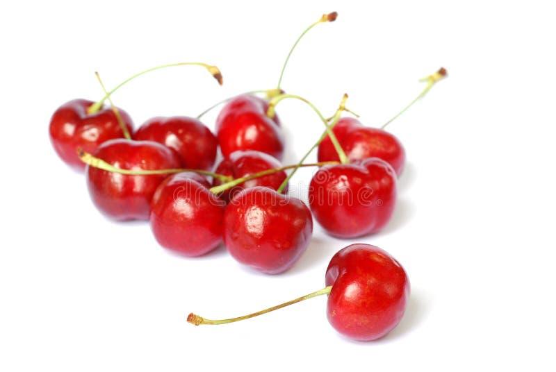 Cerezas rojas imagen de archivo
