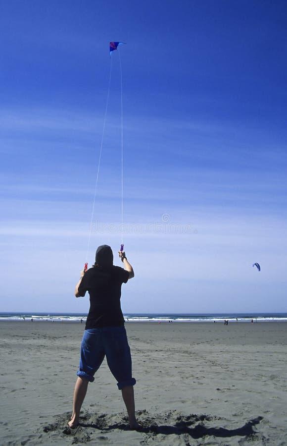 Cerf-volant De L Adolescence De Vol Photo libre de droits