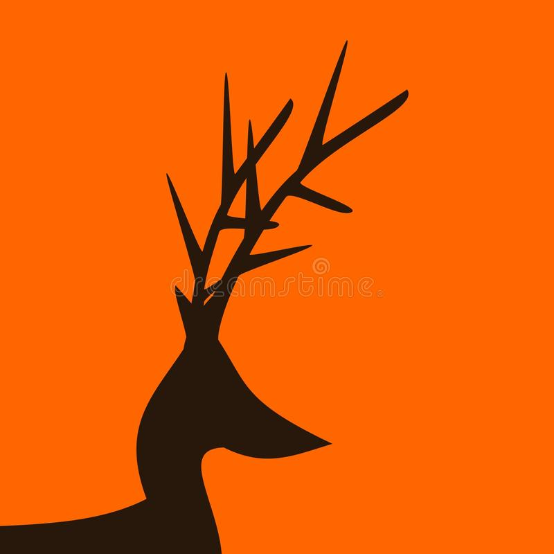 Cerfs communs illustration libre de droits