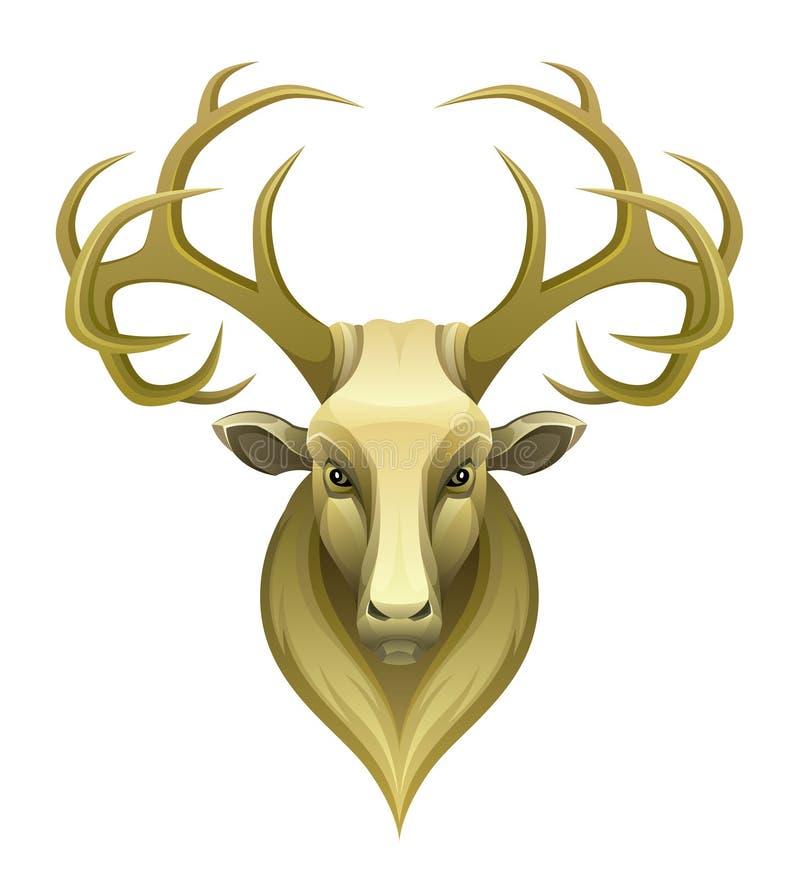 Cerfs communs d'or illustration de vecteur
