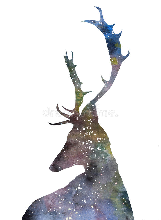 Cerfs communs d'univers illustration de vecteur