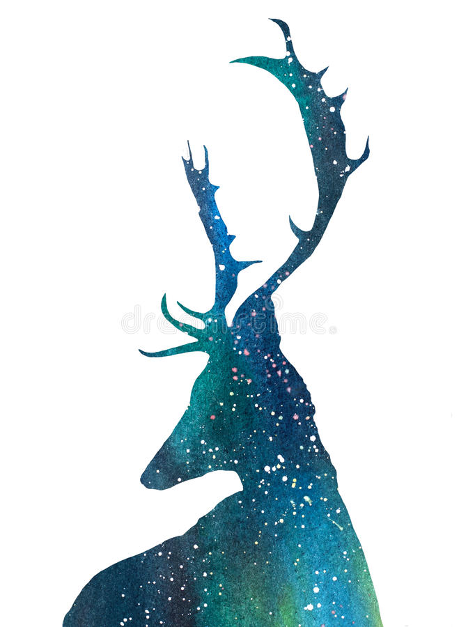 Cerfs communs d'univers illustration stock