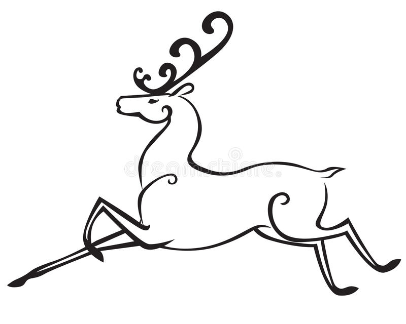 Cerfs communs de Noël illustration stock