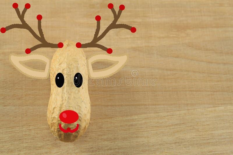 Cerfs communs de Noël avec un nez rouge image libre de droits