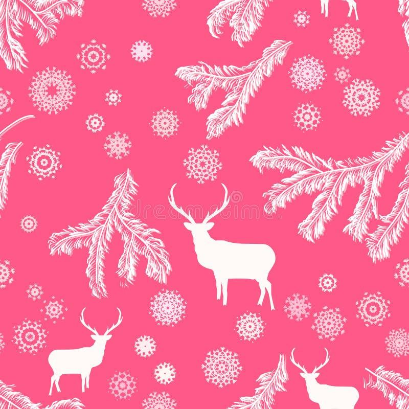 Cerfs communs de Noël, illustration sans couture. ENV 8 illustration libre de droits
