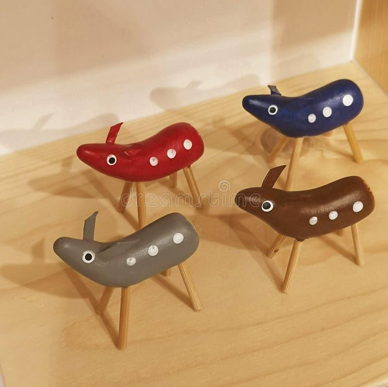 Cerfs communs japonais traditionnels de jouet image stock