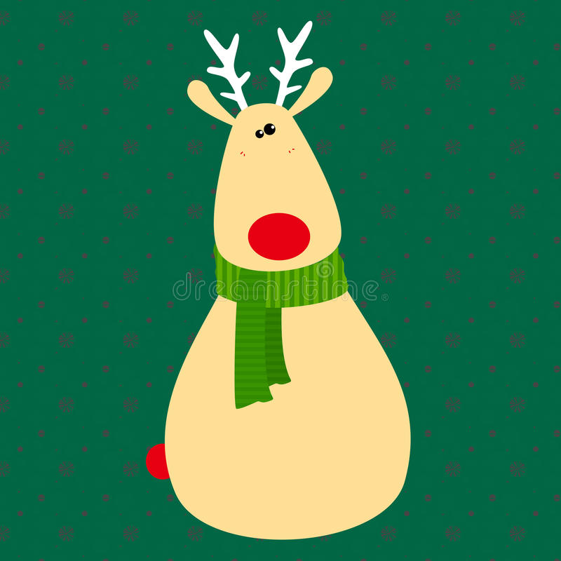 Cerfs communs mignons de Noël illustration stock