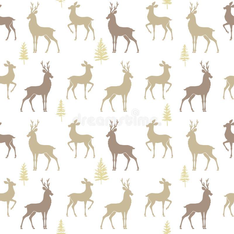 Cerfs communs sans couture de modèle illustration stock