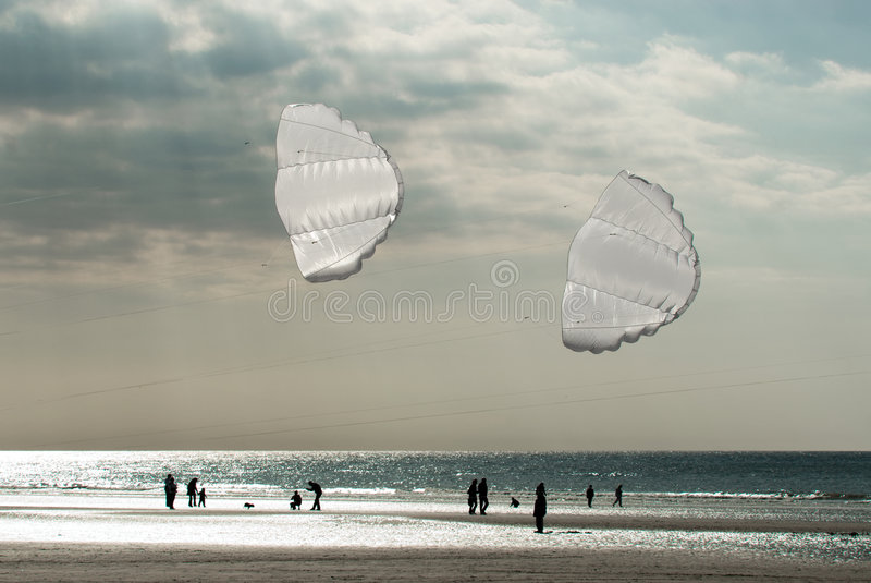 Cerfs-volants blancs photographie stock libre de droits