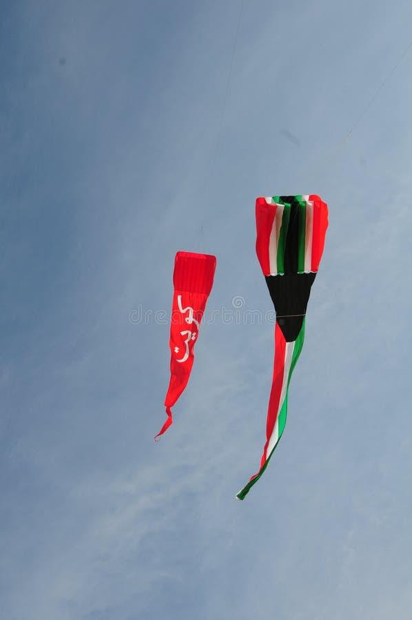 Cerfs-volants de drapeau du Kowéit photographie stock libre de droits