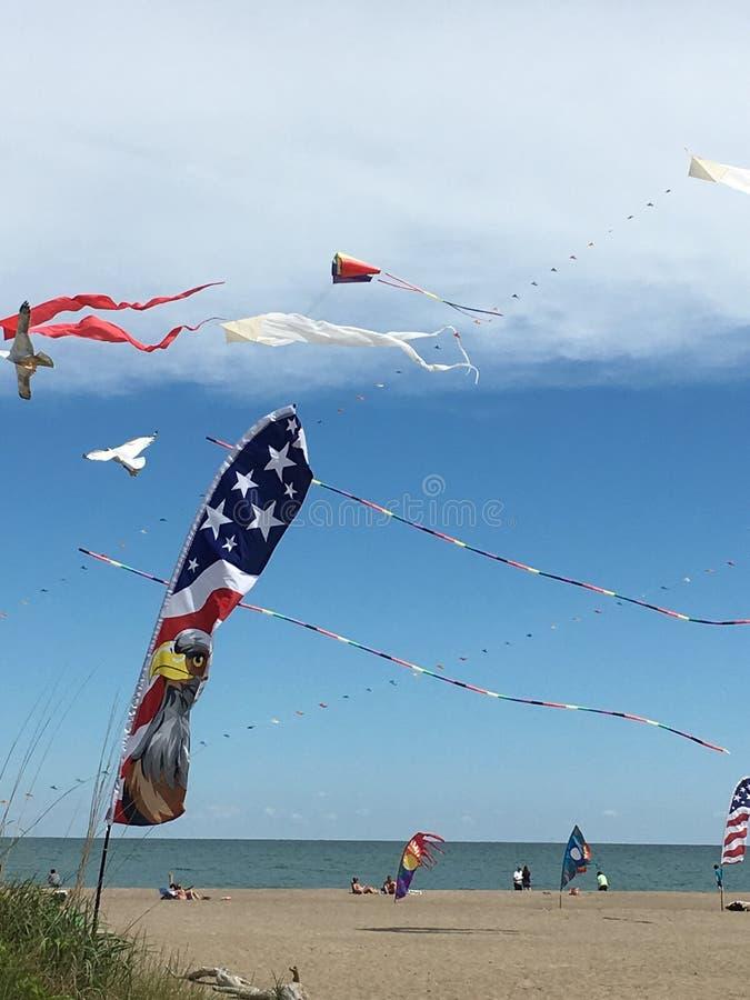 Cerfs-volants de plage photo libre de droits