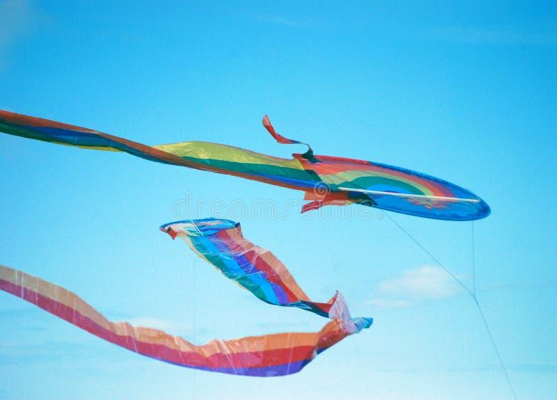 Cerfs-volants en ciel photo libre de droits