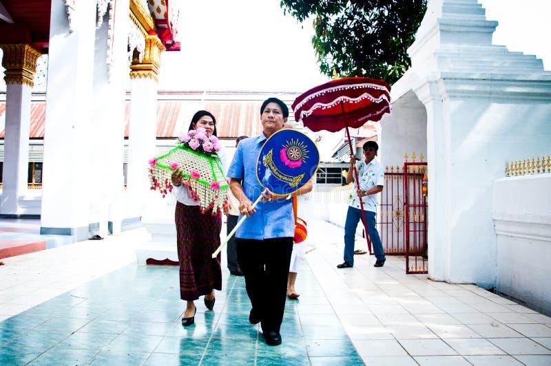 Cerimónia budista tailandesa da classificação foto de stock royalty free
