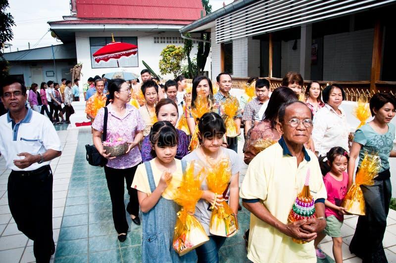 Cerimónia budista tailandesa da classificação imagem de stock royalty free
