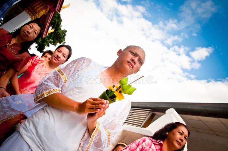 Cerimónia budista tailandesa da classificação imagem de stock