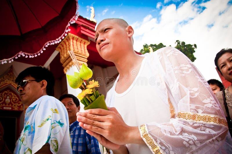Cerimónia budista tailandesa da classificação foto de stock