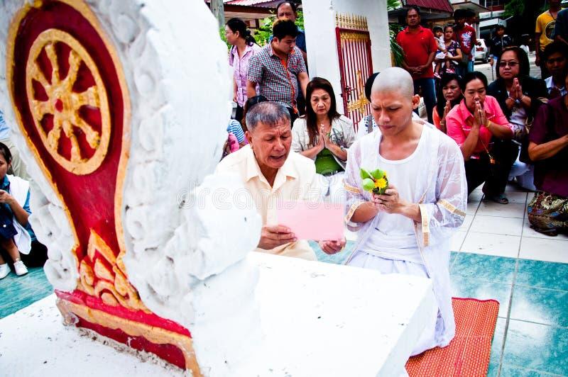 Cerimónia budista tailandesa da classificação fotos de stock royalty free