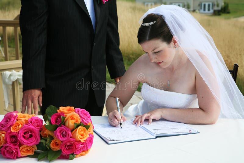Cerimónia de casamento fotos de stock royalty free