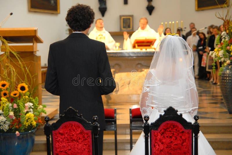 Cerimónia de casamento imagem de stock
