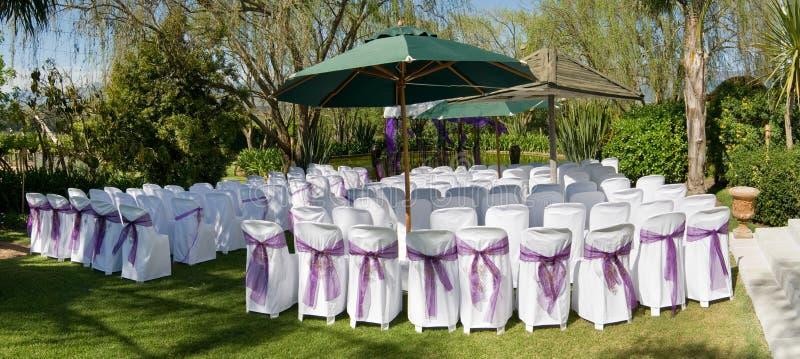 Cerimónia de casamento ao ar livre imagens de stock