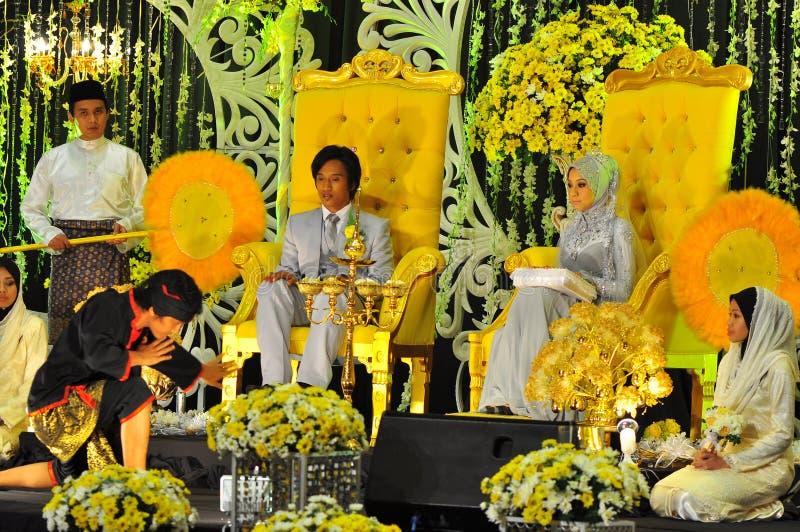 Cerimónia de casamento do Malay foto de stock royalty free