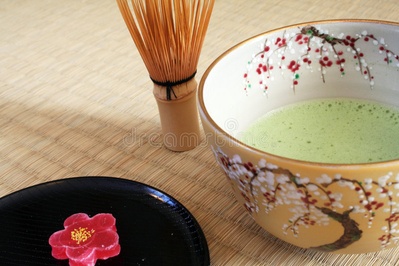 Cerimónia de chá japonesa fotos de stock