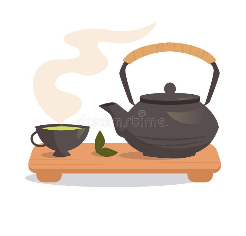 Cerimónia de chá japonesa ilustração royalty free
