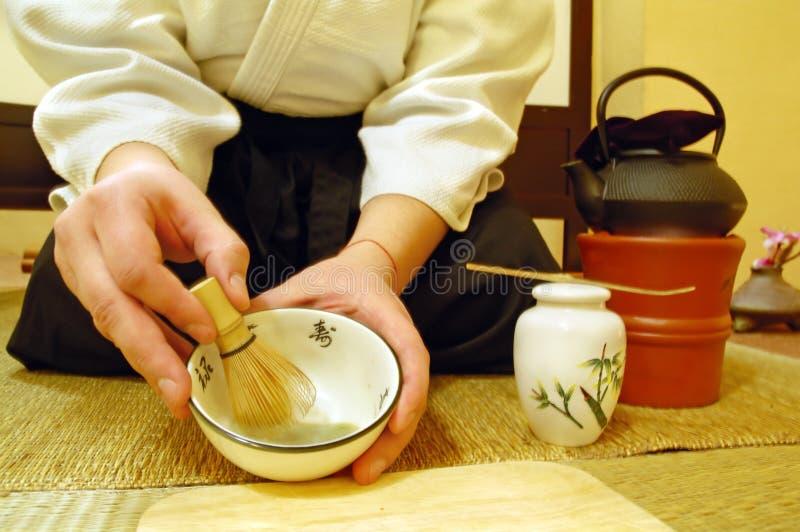 Cerimónia de chá japonesa imagem de stock