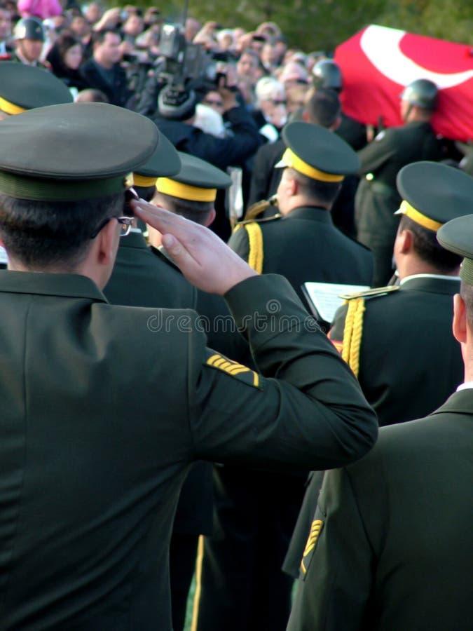 Cerimónia de funeral de Rauf Denktas foto de stock