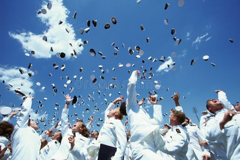 Cerimónia de graduação da Academia Naval de Estados Unidos fotos de stock royalty free