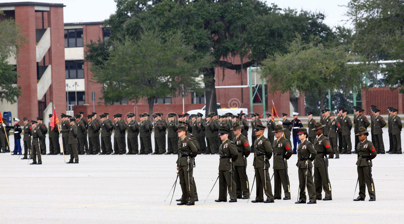 Cerimónia de graduação do Corpo dos Marines de Estados Unidos foto de stock royalty free