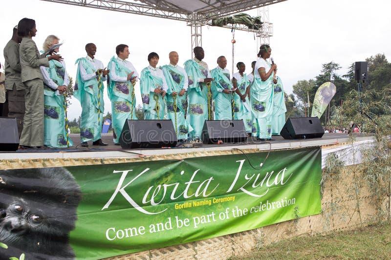 Cerimónia de Kwita Izina fotos de stock